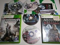 Microsoft Xbox 360 - Assassin's Creed -3 Video Games Lot II 2, III, Revelations