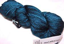 Blue-Green EMERALD LG Skein 210yd Malabrigo WORSTED Kettle-Dyed MERINO SOFT YARN