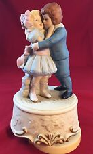 Musical Box Figurine By Schmid, What The World Needs Now Is Love, Boy & Girl