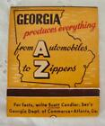 1950%27s+Large+Size+Matchbook+%22GEORGIA+PRODUCES+EVERYTHING%22