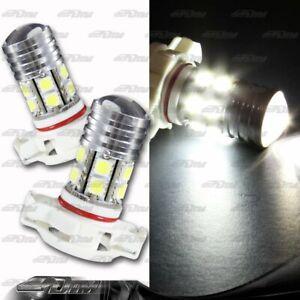1x Pair GMC Pontiac Ford H16 / 9009 / 5202 Q5 13 LED White Projector Bulbs