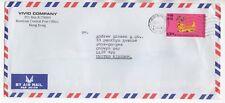 1998 HONG KONG Air Mail Cover to RHOS ON SEA COLWYN BAY WALES GB Vivid Company