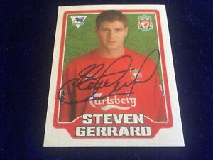 Merlin premier League 2006 Steven Gerrard Unused Liverpool Football Sticker #254