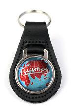 Triumph Globe Logo Quality Black Leather Keyring