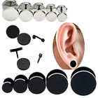 Punk Gothic Jewelry Stainless Steel Round Plain Men's Ear Stud Barbell Earrings