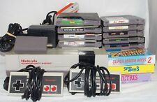 Nintendo NES Console Bundle 12 Games Super Mario Bros 1 2 3 Duck Hunt Tetris
