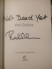 Phil Collins, LVO, SIGNED 'Not Dead Yet' 1/1 L/E book HB. Genesis Music, Disney