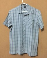 O'NEILL Men's Camp Plaid Shirt Button Front Short Sleeve Size M Medium