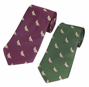 Green or Purple Partridge Shooting Tie NEW Game Shooting Gift by Jack Pyke