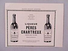 Liqueur Peres Chartreux Print Ad - 1907 ~ Chartreuse