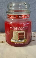 New Yankee Candle Jar Housewarmer Medium 14.5 OZ  RED VELVET  Food & Spice