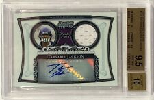 2006 Bowman Sterling Tarvaris Jackson Jersey Patch RC #BS-TJ BGS 9.5 w/ 10 Auto