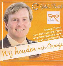 Gekes Tiental-Wij Houden Van Oranje cd single