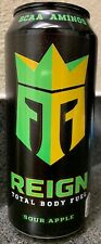 New Reign Total Body Fuel Sour Apple Energy Drink 16 Fl Oz Full Can Bcaa Aminos