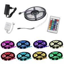 5M Strip LED SMD Streifen RGB Trafo 150 wasserd Controller mit Adapter