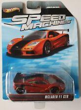 Hot Wheels Speed Machines Mclaren F1 GTR 2012 Diecast Car Sealed Orange Black