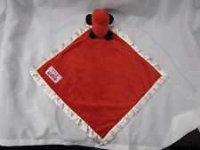 CASE IH FOR KIDS STUFFED PLUSH RED CAR SECURITY BLANKET LOVEY SATIN WHITE