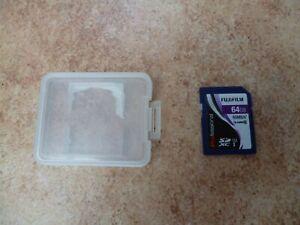 Fujifilm 64GB SD Card Digital Memory Card in Hard Plastic Case