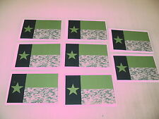 8 TEXAS CAMO OD FLAG Sticker Decal LOT 4 boat car Window Truck suv Wholesale