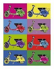 VESPA Vintage Pop QUALITY Canvas Art Print Retro Scooter Poster B