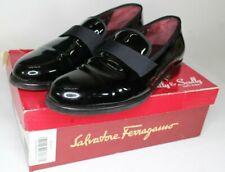 "Men's Salvatore Ferragamo ""Notte"" Formal Dress Shoe Glossy Black 11D"