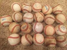 Large LOT of 21 League ALL LEATHER practice  baseballs in very good condition