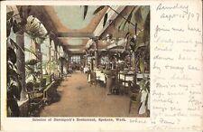 Spokane, WASHINGTON - Davenport's Restaurant - Interior - 1907