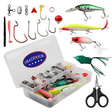 120Pcs Fishing Accessories Freshwater Tackle Set Crankbait Hooks Swivels Sinker