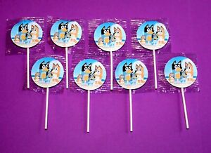 Bluey Birthday Party Suckers Lollipops Set of 8 Goody Favors
