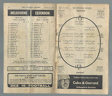 1971 VFL Football Record Melbourne v Essendon April 24 Demons Bombers