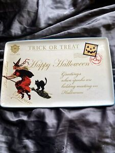 Heaven Sends Halloween Large Trick Or Treat Ceramic Platter Decoration - 1099