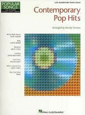 Hal Leonard Student Piano Library Contemporary Pop Hits Learn Music Book