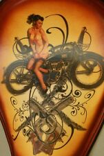 Tattoo Harley Chopper Bobber Sportster Motorcycle Seat Rich Phillips Leather
