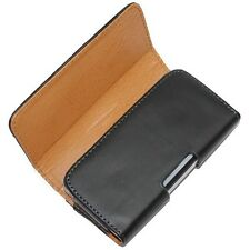Black Tradesman Leather Belt Clip Pouch Case Cover for Sony Xperia M, M2, M4, M5