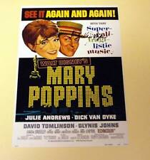 "MARY POPPINS PP SIGNED 12X8"" POSTER JULIE ANDREWS"