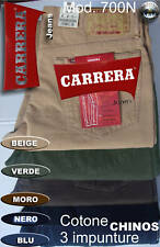 PANTALONE CARRERA Jeans COTONE CHINOS 5 COLOR 46 48 50 52 54 56 58