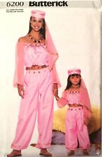 Butterick 6200 Sewing Pattern Belly Dancer Costume child/adult sizes