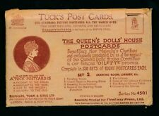 Royalty TUCK Oilette Queen's Dolls' House complete Set 2 x8 PPCs original packet