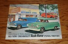 1955 Chevrolet Task Force Panel Trucks Sales Brochure 55 Chevy