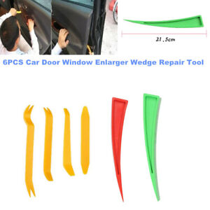 6PCS Car Door Window Enlarger Wedge Dent Repair Tool Panel Paint Auxiliary Kit