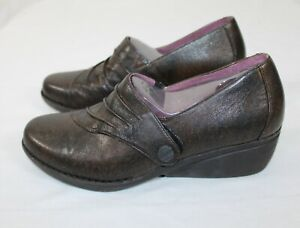 Dankso Womens Size 43 Brown Leather Slip On Loafers Clogs with Strap 12.5 New