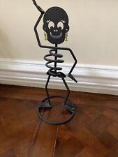 "Partylite P90920 15"" Mrs. Bones Skeleton Halloween Metal Candle Holder"
