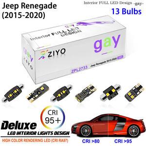 LED Light Bulbs for 2015-2020 Jeep Renegade Interior Light Kit White Dome Light