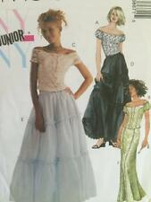 McCalls Sewing Pattern 3867 Girls Childs Lined Top Skirts Size 3/4-9/10 Uncut