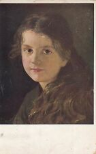 CF36.Vintage Postcard.Portrait of a young girl. Gretel.By  Ferdinand Schauss