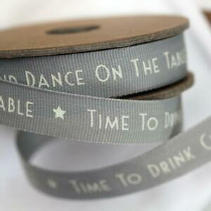East of India 'Time To Drink Champagne And Dance On The Table' Ribbon 3m