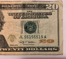 $20 2 Digits Only S# JL 55155515 A