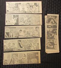 "1966 JULIET JONES by Stan Drake LOT of 47  Daily Cartoon Strips 7.5x2.5"" VG+"