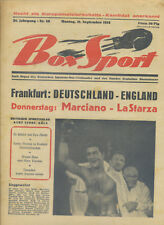 Zeitschrift Box Sport 34. Jahrgang 1953 Nr. 38 Marciano LaStarza Amateur-Boxen