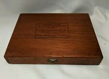 Vintage Wood Cigar Tobacco Box SYLVESTER PUNANCY